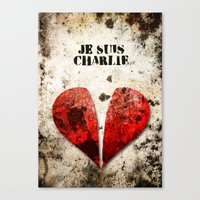 Je suis Charlie Graphic Canvas Print