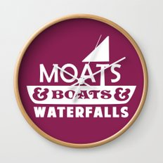 Moats and Boats and Waterfalls Graphic Wall Clock