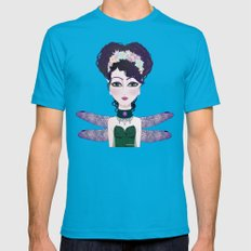Dragonfly Fairy  Mens Fitted Tee Teal SMALL