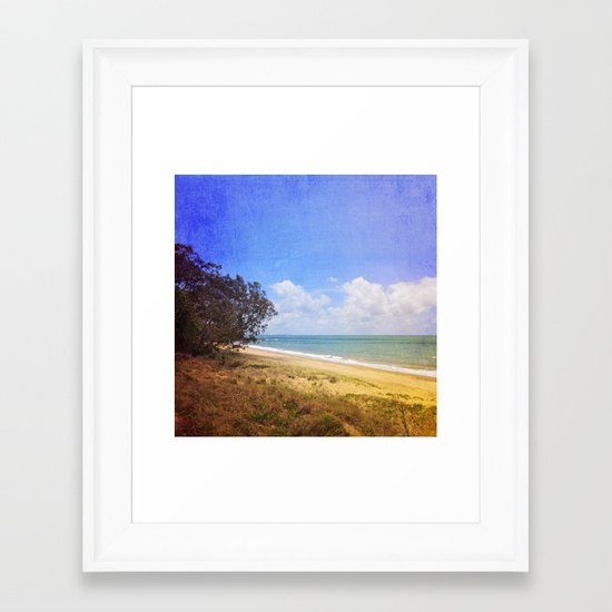 Beautiful Day by the Sea Framed Art Print