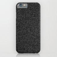 grayscale treemap mosaic - dark iPhone 6 Slim Case