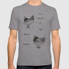 Jealous Chicken (1) Mens Fitted Tee Athletic Grey SMALL
