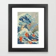 The Great Wave Off Kanto Framed Art Print