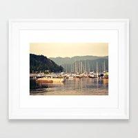 deep cove harbor Framed Art Print