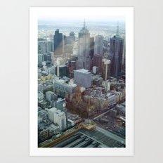 Melbourne from Eureka Art Print
