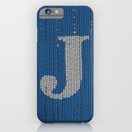Winter clothes. Letter J II. iPhone & iPod Case