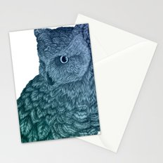 Ombre Owl II Stationery Cards