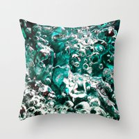 Turquoise Bubbles Photog… Throw Pillow