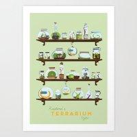 Kristina's Terrarium Type Art Print
