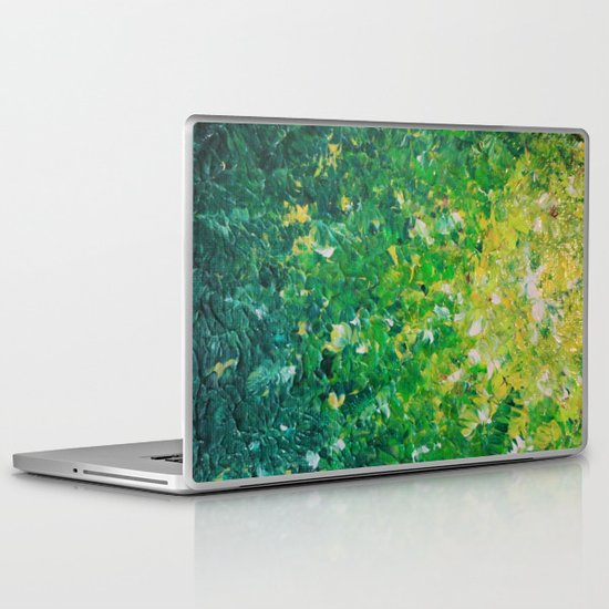LAKE GRASS - Original Acrylic Abstract Painting Lake Seaweed Hunter Forest Kelly Green Water Lovely Laptop & iPad Skin