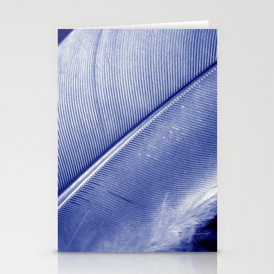 blue feather II Stationery Card
