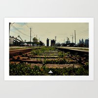 Right Side Of The Tracks Art Print