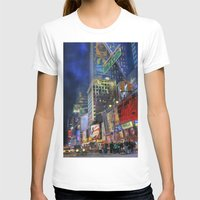 Times Square Womens Fitted Tee White SMALL