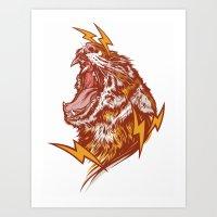 Tiger Shock Art Print