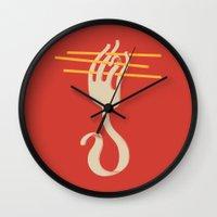 Fork & Pasta Wall Clock