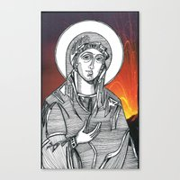 Madonna of the Volcanoes Canvas Print