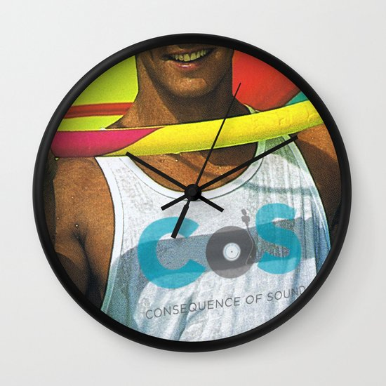 """Summer Albums"" by Cap Blackard Wall Clock"