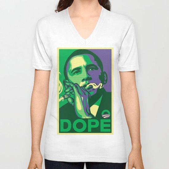 the dopest president V-neck T-shirt