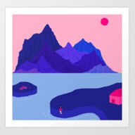 Mountain Hike//Missing B… Art Print