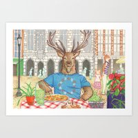Everyday Animals - Mr St… Art Print