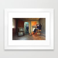 Static/Abduction Framed Art Print