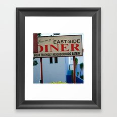 #JIMMY`S DINER  - USA by Jay Hops Framed Art Print