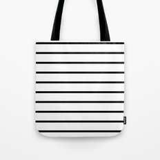 Thin Black Stripe Pattern Tote Bag