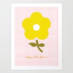 Happy little flower Art Print