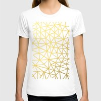 Broken Gold Womens Fitted Tee White SMALL