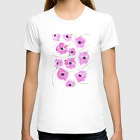 Anemone Womens Fitted Tee White SMALL