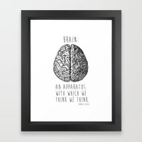 Brain Framed Art Print