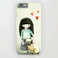 iPhone & iPod Case featuring Pug is my best friend by munieca