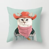 Rodeo Cat Throw Pillow