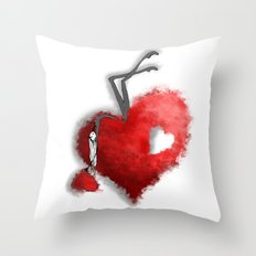 Heart Girls II Throw Pillow