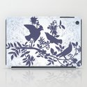 spring pattern with birds and flowers iPad Case