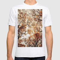 Woodland Trees Mens Fitted Tee Ash Grey SMALL