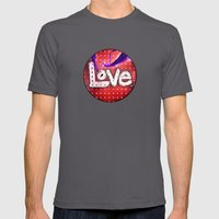 Love Never Fails Mens Fitted Tee Asphalt SMALL