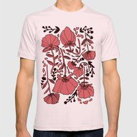 Nature Mens Fitted Tee Light Pink SMALL