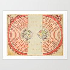 A Geocentric Universe Art Print