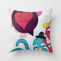 Pushing Love Like Pimps Throw Pillow