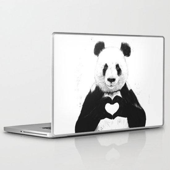All you need is love Laptop & iPad Skin