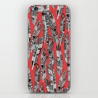 geo feathers red iPhone & iPod Skin
