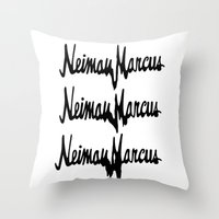 NM Drip (black only) Throw Pillow
