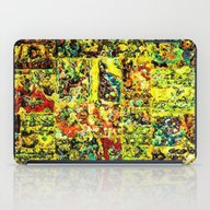 Abstract In Yellow  iPad Case