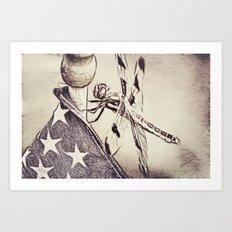 D-Fly Draw Art Print