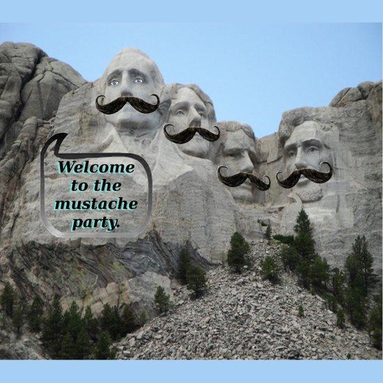 Mount Mustache Art Print