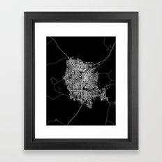 Las Vegas Map Framed Art Print
