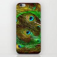 The Peacock Dream In Gol… iPhone & iPod Skin