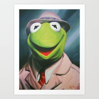 Frog Reporter Art Print