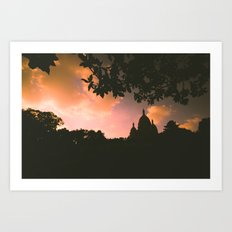 Sacre-Coeur, Paris. Art Print